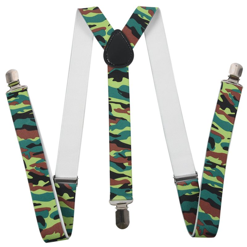 Army Green - Funky Trendy Men Suspender Braces