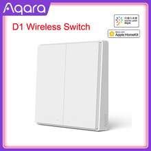 أحدث الأصلي D1 نسخة Aqara التبديل إضاءة ذكية التحكم عن بعد زيجبي اللاسلكية الجدار التبديل ل Mijia Mi المنزل APP