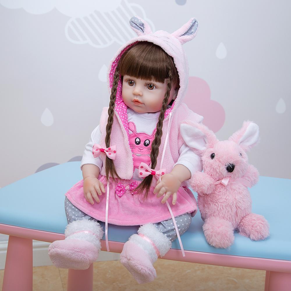 Großhandel KEIUMI bebe Reborn silikon Volle Körper 48 CM Realistische Prinzessin Puppe Baby Spielzeug Für Mädchen kinder Tag Geburtstag geschenke