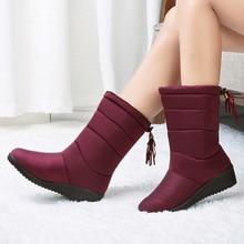 Waterproof Women Boots Ankle Winter Shoes Warm Fur Snow Female Bota Booties Botas Mujer