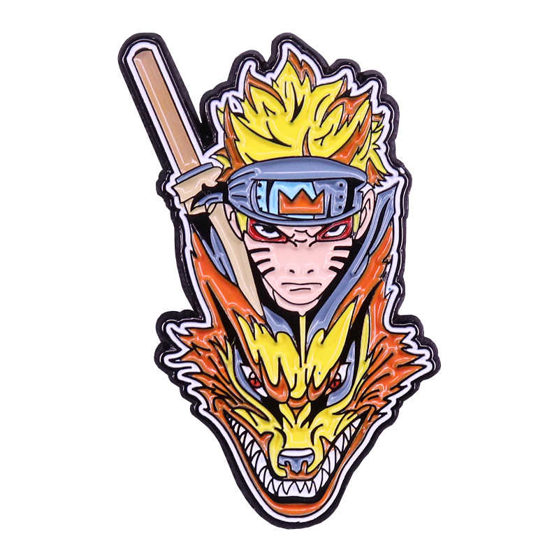Naruto Inuzuka Kiba และ Akamaru Badge Cool แฟน Decor