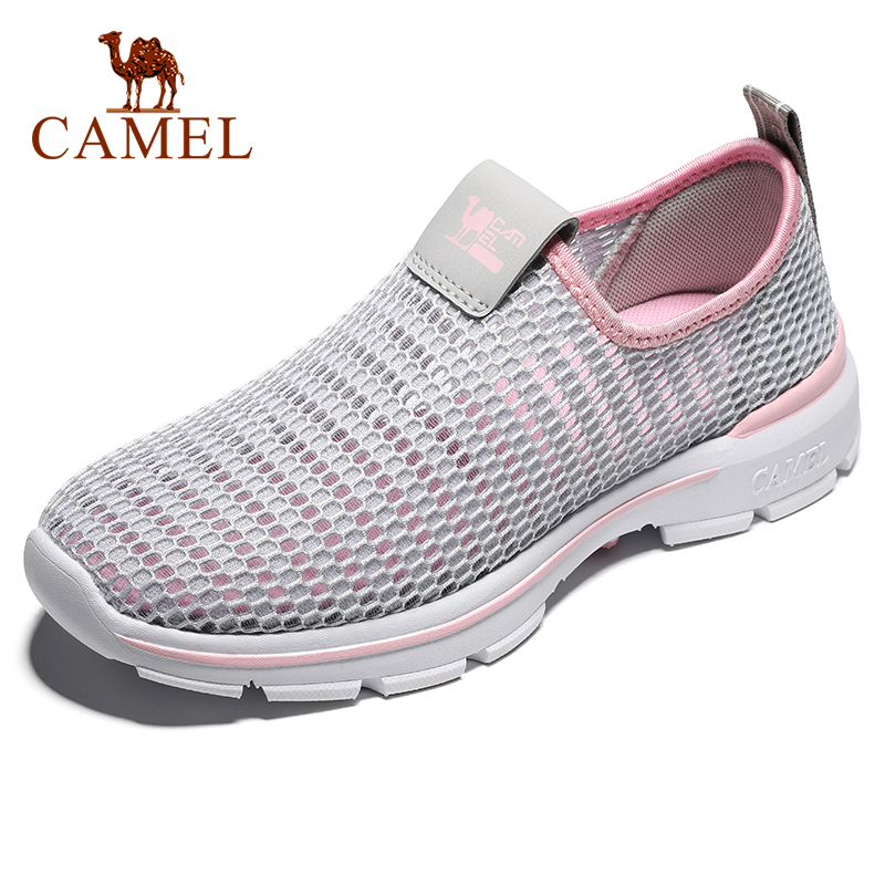 CAMEL Men New Women Hiking Shoes Outdoor Slip On Mesh Shoes Casual Spring Summer Breathable Non-slip Outdoor Walking Flat Shoes