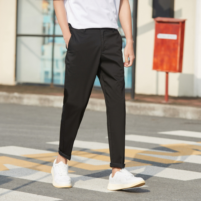 Semir Casual Pants Men 2020 New Summer Fashion Simple Straight Pants Men's Comfortable Stretch Nine Pants Tide