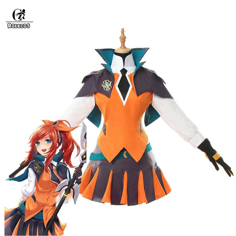 ROLECOS LOL Lux Cosplay Costume Battle Academia Lux Cosplay LOL Game Costume Women Outfit Full Sets Women Halloween