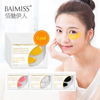 Baimiss 24K Gold Eye Serum Oogmasker Collageen Eye Patches Anti Rimpel Verwijderen Donkere Cirkel 5 Paar = 10 stuks Eye Huidverzorging Verstevigende