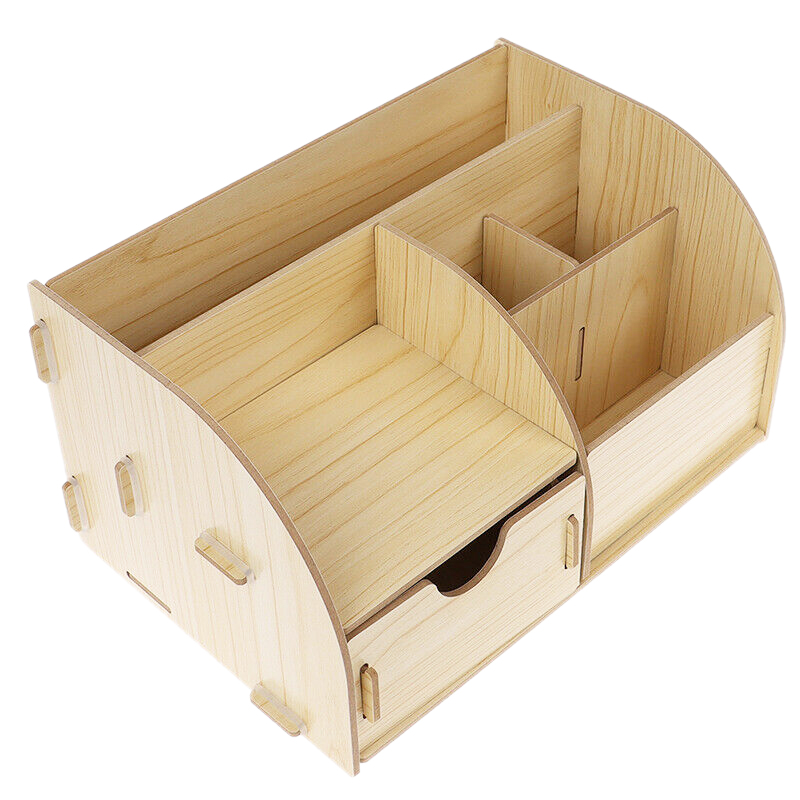 Bamboo Desk Organ Children Storage Box Pencil Holder Office Combination Assembled Multifunctional Drawer
