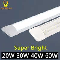 120cm tubo de luz Led lámpara T5 tubo 220V 60cm 2ft 4ft 1200mm T8 lámpara de pared 20W 40W 60W blanco cálido blanco frío tri-prueba Luz