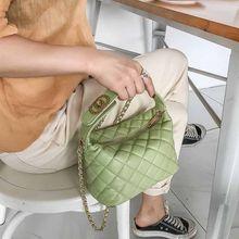 Gabrielle hobo çanta chanel çanta kadın çanta 2020 yeni kore moda rahat ekose zincir omuz askılı çanta ünlü klasik