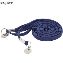 SAGACE шнурки 1 пара эластичные одна рука без галстука лень шнурки ботинок шнурки серый/синий удобный шнурки с металлическим кольцом