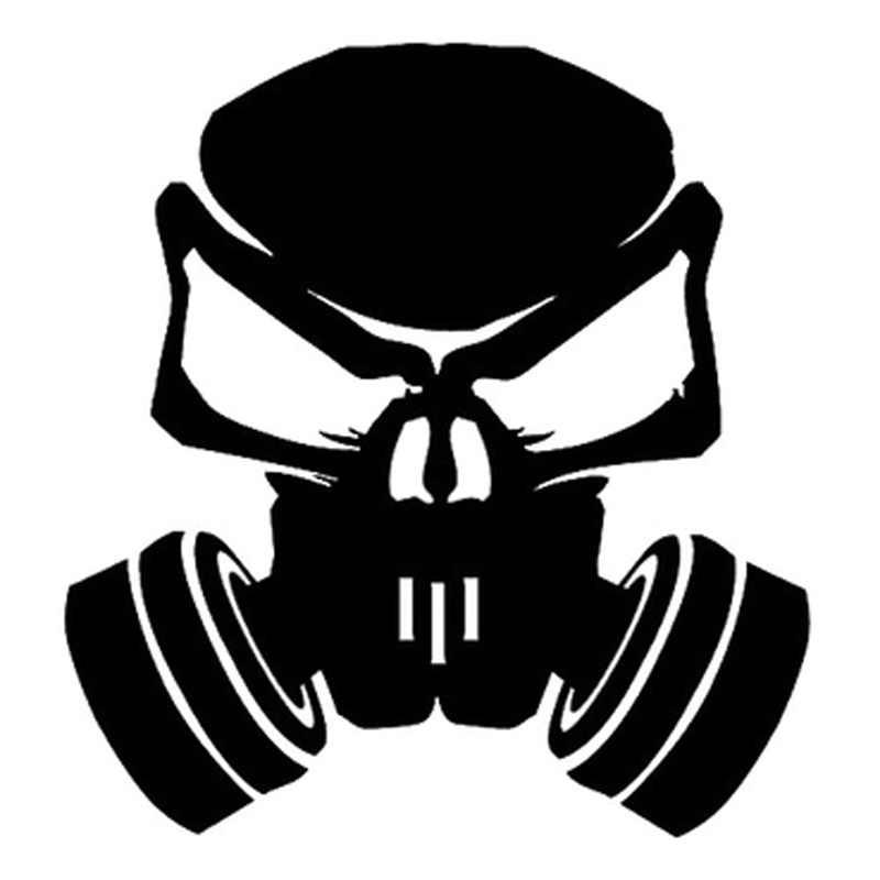 Pegatinas DAWASARU Nitro Skull Hardcore de vinilo de moda pegatina de estilo de coche pegatina a la moda para coche negro/plateado 16CM * 15CM