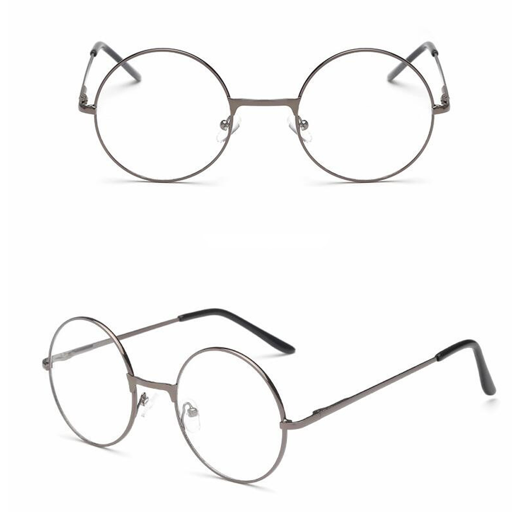 Vintage Round Metal Frame Personality College Style Clear Lens Eye Glasses Frames Blue-light Eye Protection Mobile Phone Game