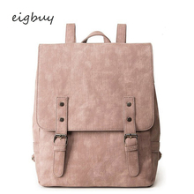 цена на Women Luxury Backpack Large School Bags For Teenage Girls Shoulder Bag Vintage Pu Leather Backpacks Black Casual Solid Rucksack