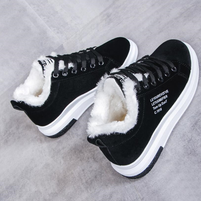 Cotton Shoes Female New Women's Boots Winter Plus Velvet Cotton Shoes Thick-Soled Warm Snow Women's Boots Women's Cotton Boots 2