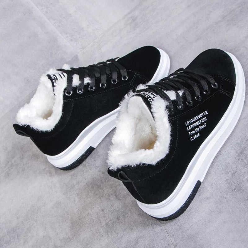 Pamuklu ayakkabılar kadın yeni kadın botları kış artı kadife pamuklu ayakkabılar kalın tabanlı sıcak kar kadın çizmeler kadın pamuklu bot
