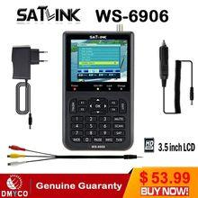 """[אמיתי] סאטלינק WS 6906 3.5 """"DVB S FTA דיגיטלי לווין מטר לווין finder לווין satFind LCD ws 6906 סאטלינק ws6906"""