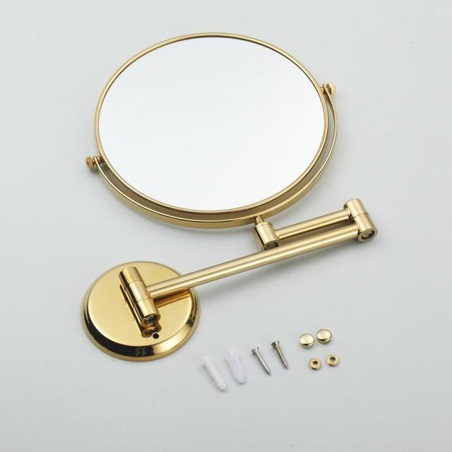 двухстороннее складное латунное зеркало для макияжа в ванную фотография
