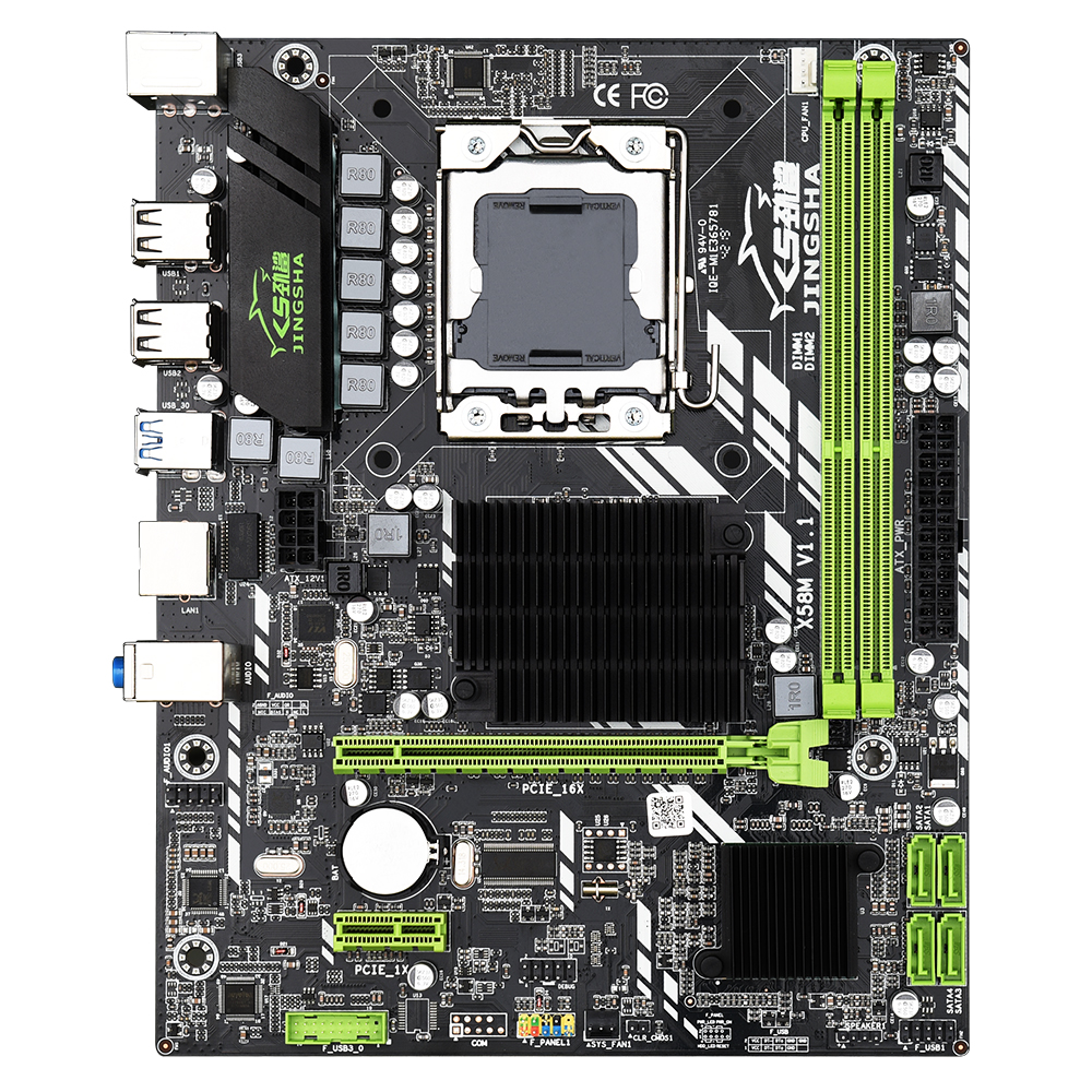 rx com Usb Jingsha Matx Desktop X58 Placa-mãe Ddr3 Lga 1366 Suporte Amd Série X58m 3.0
