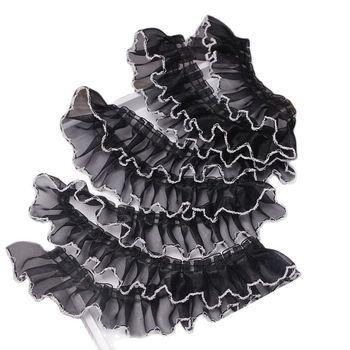 1 jardów gipiury koronki szyfonowa tkanina tiul materiał koronki 4cm wstążka szycia białe czarne koronki na ubrania Party sukni rękodzieła LA27 tanie i dobre opinie yoohxin CN (pochodzenie) Jacquard Organza Voile Przyjazne dla środowiska