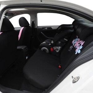 Image 3 - AUTOYOUTH araba koltuğu kapakları kadınlar evrensel çoğu otomobil Fit ve hava yastığı uyumlu pembe renk çiçek nakış