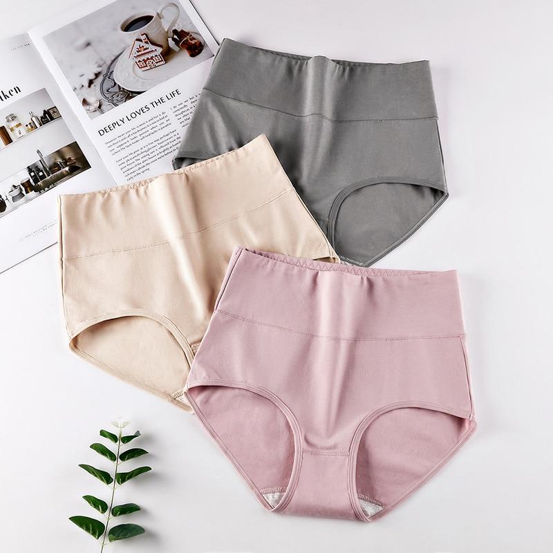 Women's Underwear High-end Hips Shaping Body Size Plus Size Underwear Women's Cotton High Waist Ladies Briefs Shorts