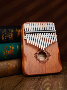 Musical-Instruments Kalimba Piano Mahogany Mbira Learning-Book Wood Body 17-Keys High-Quality