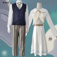 Anime Beastars Haru Cosplay Costume  White Rabbit Dresses Suit Animal Cute Dress Legoshi Shirt Pants Set Wigs Girls Women Men
