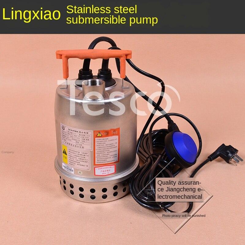 Pump 220V small stainless steel submersible pump automatic drainage pump sewage pump basement pump