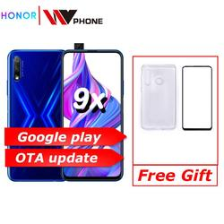 Honor 9x 9x pro telefone inteligente kirin 810 octa núcleo 6.59 polegada de levantamento tela cheia 48mp câmeras duplas 4000 mah gpu turbo telefone móvel