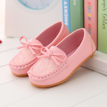 Children Kids Slip-on Pink Yellow Leather Shoes For Girls Baby Rhinestones Casual Single Shoes 1 2 3 4 5 6 7 8 9 10 12 Years old 8 different style fashion baptism pure white shoes for 0 2 years old riband solid baby girls shoes handmade high quality 2018