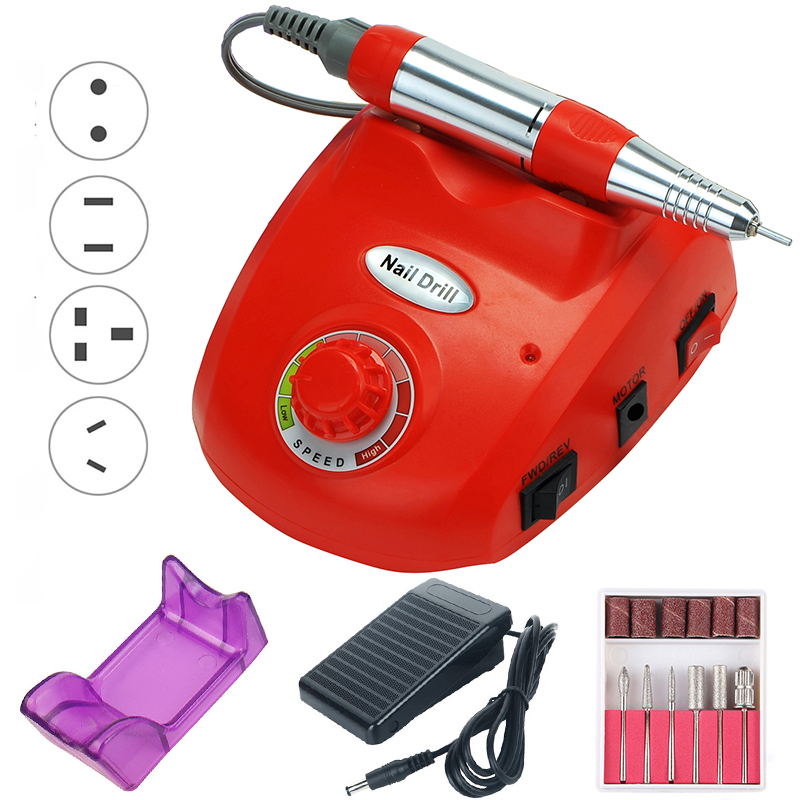 35000 RPM Electric Nail Drill Machine Manicure Set Pedicure Gel Remover Strong Nail Drill Equipment Tools Left Hand Nail File