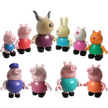 Peppa pig George guinea pig Family Pack Dad Mom Action Figure Original Pelucia Anime Toys For Kids children Gift pink pig peppa pig george guinea family pack dad mom action figure original pelucia anime toys gift for children