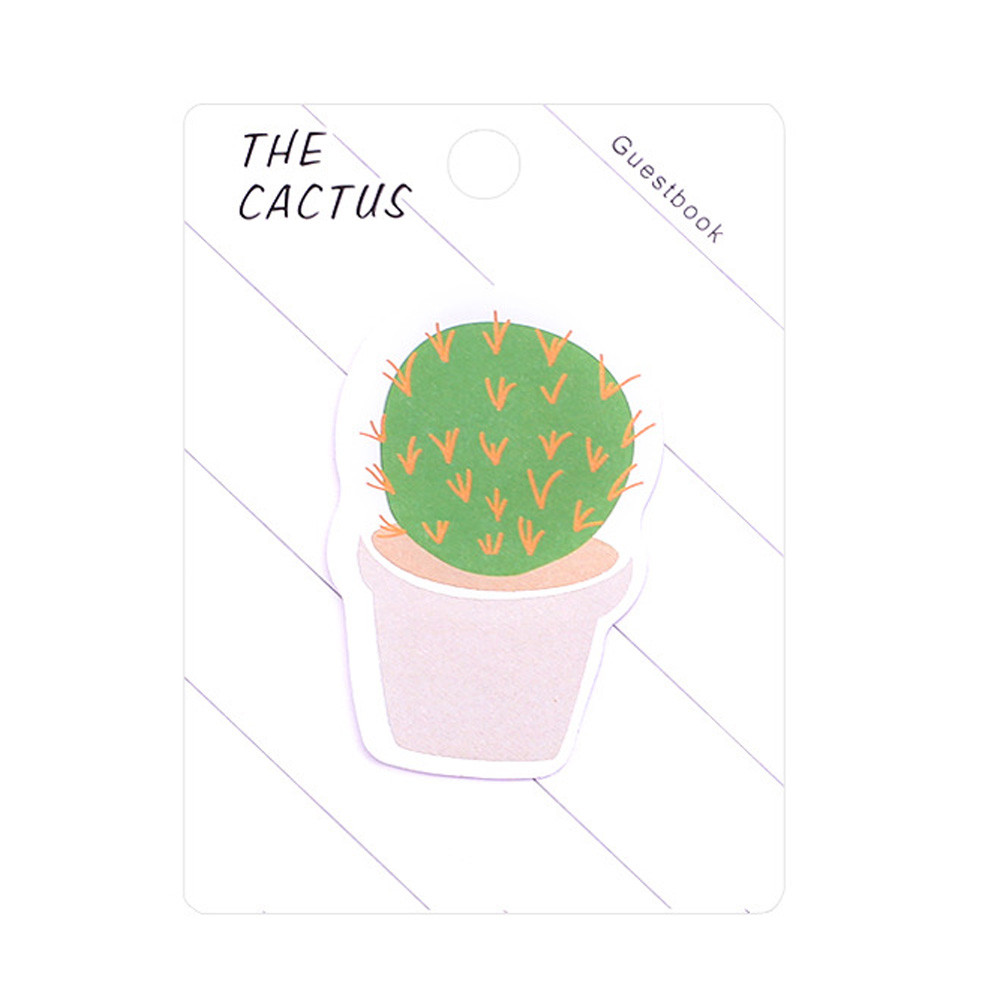 1 Pcs Fresh Cactus Love Memo Pad Sticky Notes Memo Notebook Office Bookmark Post  Stationery School Supplies Tool