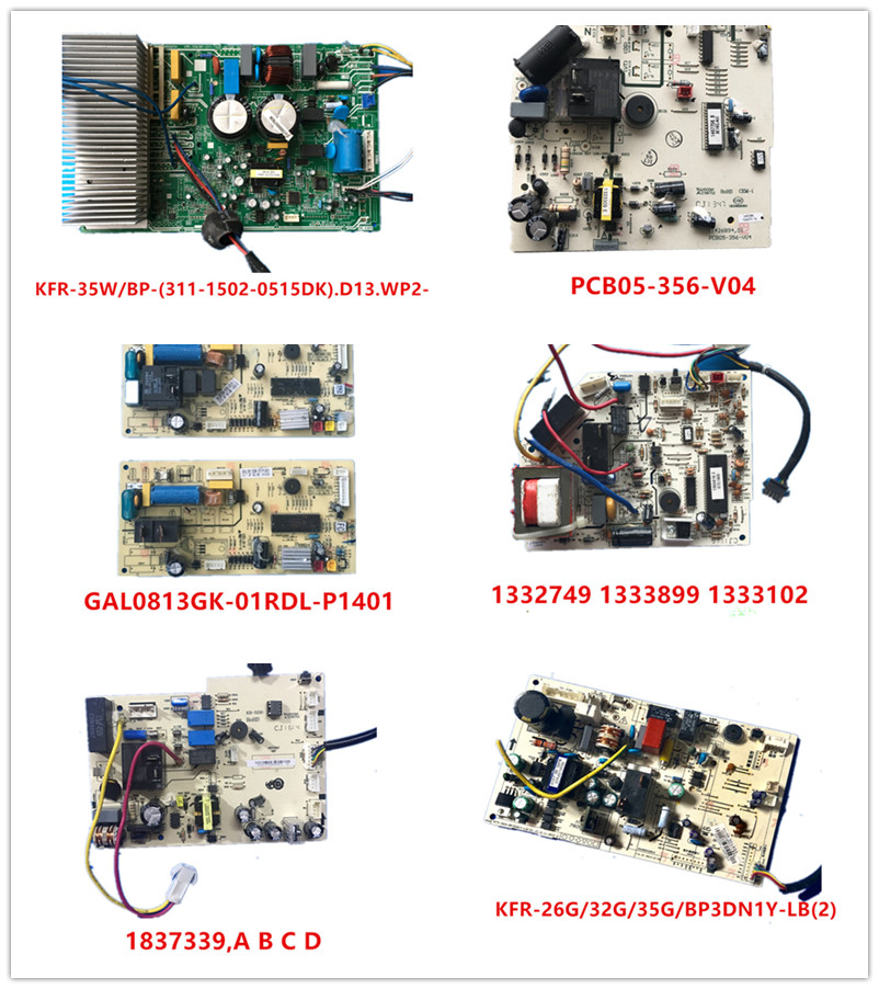 KFR-35W/BP-(311-1502-0515DK)|PCB05-356-V04|GAL0813GK-01RDL-P1401|1332749 1333899 1333102|1837339,A B C D|KFR-26G/32G/35G/BP3DN1Y