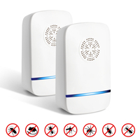 2 pcs  mosquito killer Ultrasonic mosquito repellents pest repeller electronic control repellents for Pest Rejector