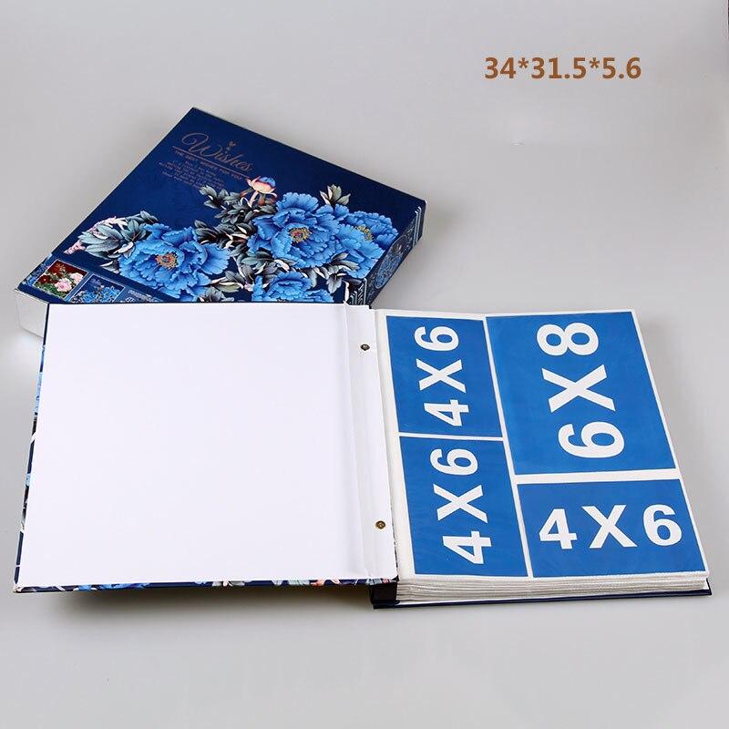Image 5 - New Family Photo Album 6 Inch 480 Pockets 8 Inch Albums Retro  Insert Page Box 4R Photo Album Mixed Travel Family Memory RecordPhoto  Albums