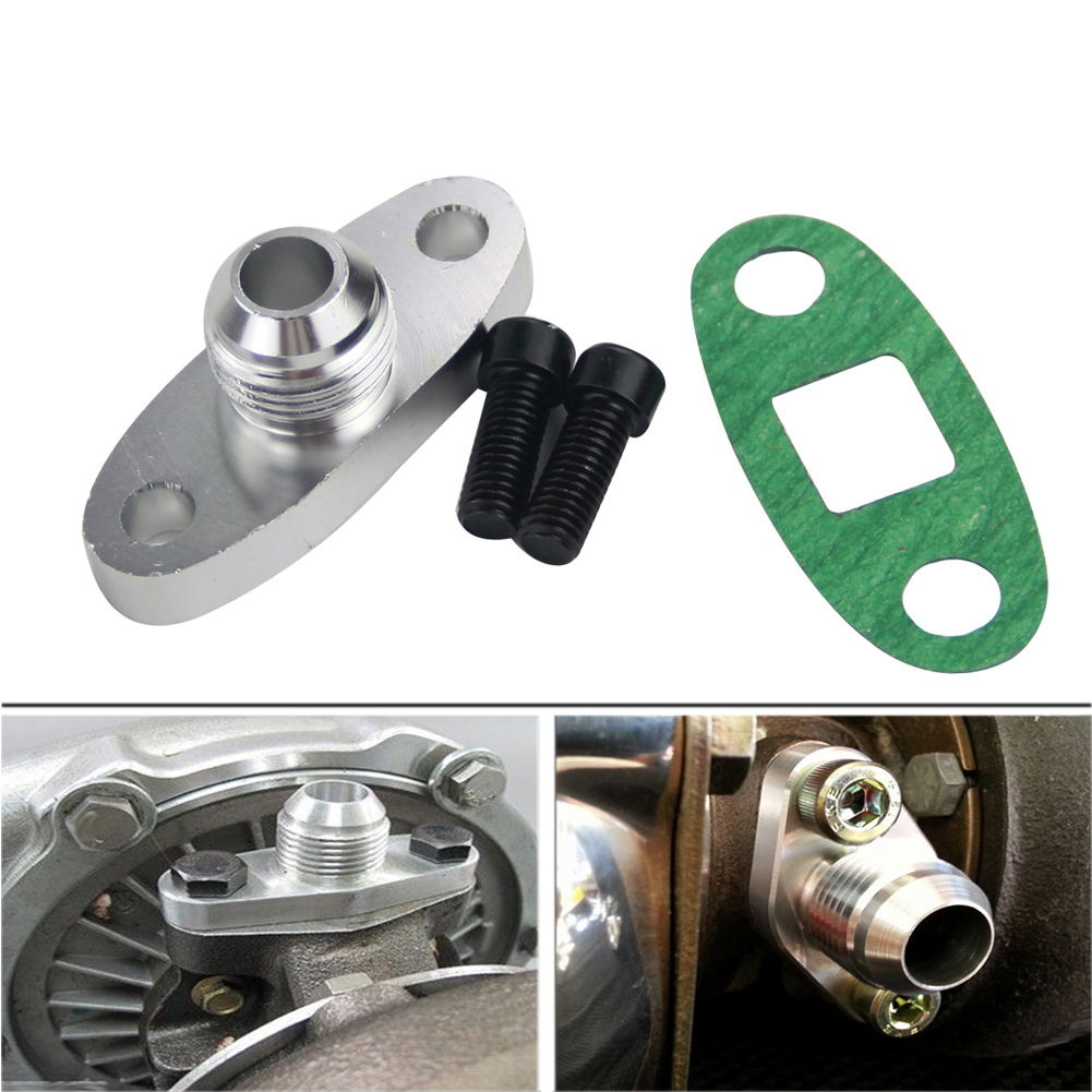 Bolts Accessories Aluminum 10AN Oil Drain Flange Parts Car Auto Return Adapter <font><b>Turbo</b></font> Charger Modification For <font><b>GT28</b></font> GT30 GT35 image