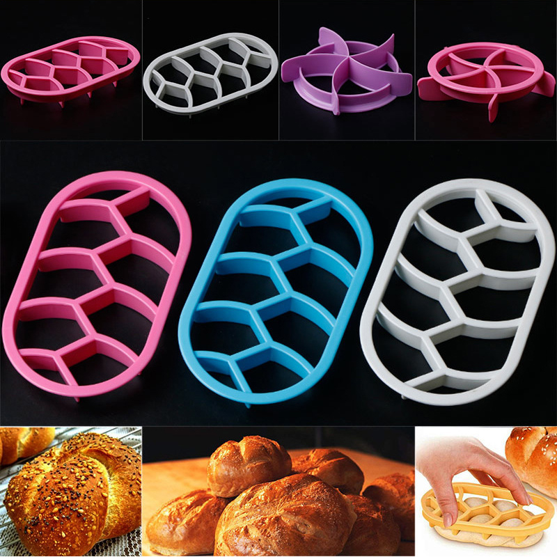 2pcs DIY Bread Stamping Round Oval Set Bread Molds Pastry Cutter Dough Cookie Press Mould Kitchen Tool
