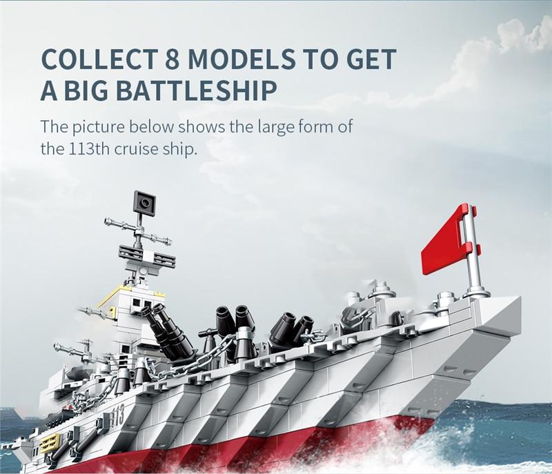1000+ PCS Military Warship Navy Aircraft Army Figures Building Blocks LegoINGlys Army Warship Construction Bricks Children Toys (7)