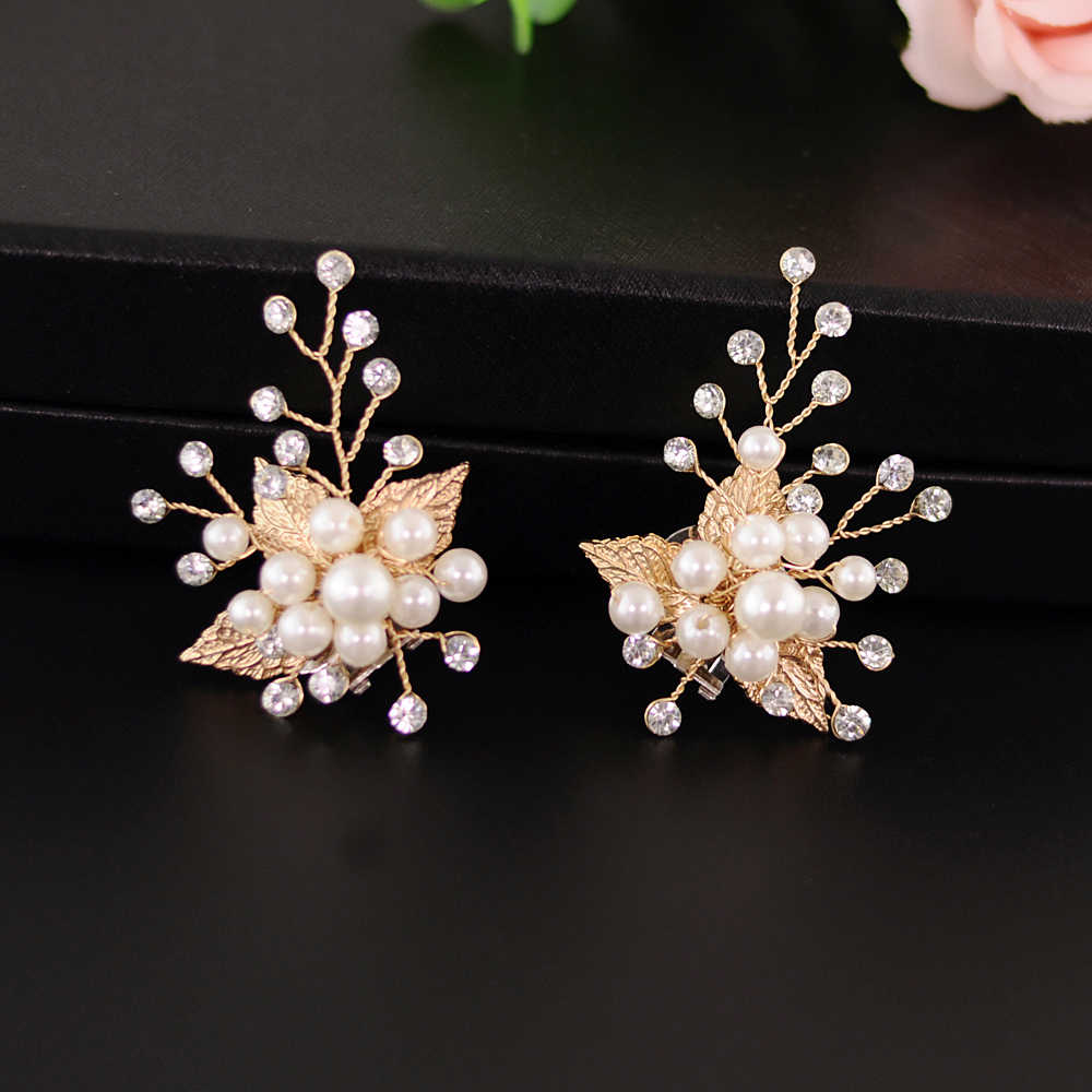 YouLaPan 2 teile/los Golden Leaf Schuh Clip Hochzeit Schuhe Hohe Ferse Dekoration Frauen Mode Schuhe Diy Schuh Zubehör X03
