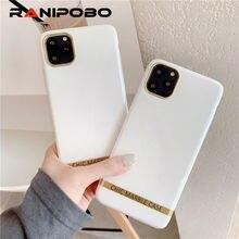 Funda de teléfono de mármol de ágata artística para iphone 11 XS XR XS Max 6 6S 7 8 Plus silicona suave brillante funda dorada barra cubierta trasera capa regalo