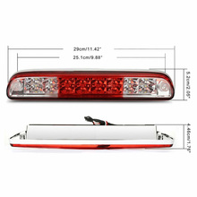 2-Row LED Red Third 3RD Brake Light Cargo Lamp For 1999-2009 Ford F-250 Chrome Direct Plug And Play защита картера ford cargo 2009 f