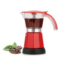 전기 모카 냄비 이탈리아어 에스프레소 라떼 커피 메이커 약 300ml 커피 메이커 냄비 여과기 커피 도구 200V EU 플러그