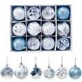 12 pçs decoração da árvore de natal pendurado bola ornamento bola bauble festa de natal para casa decorações de natal presente