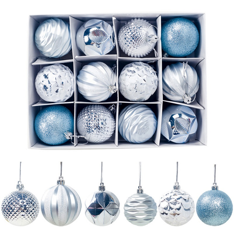 12PCS Christmas Tree Decor Hanging Ball Ornament Ball Bauble Xmas Party For Home Christmas Decorations Gift