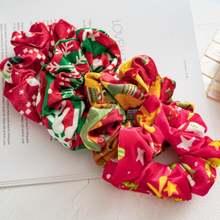 Рождественское кольцо для волос женщин модные тканевые резинки
