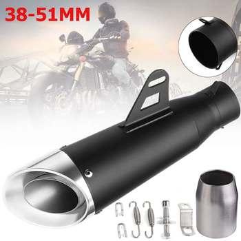 38~51mm Universal Motorcycle Exhaust Muffler Pipe For Kawasaki ER6N SV650 CRF 230 Z800 R1 CB650F For Honda CB1000R CBR250R