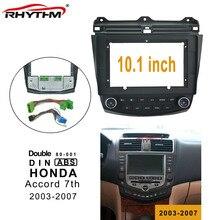 10.1 inç araba fasya klima kurulu ve Canbus Box HONDA Accord 7th 2003-2007 Fascias paneli dash araç Dvd oynatıcı çerçeve