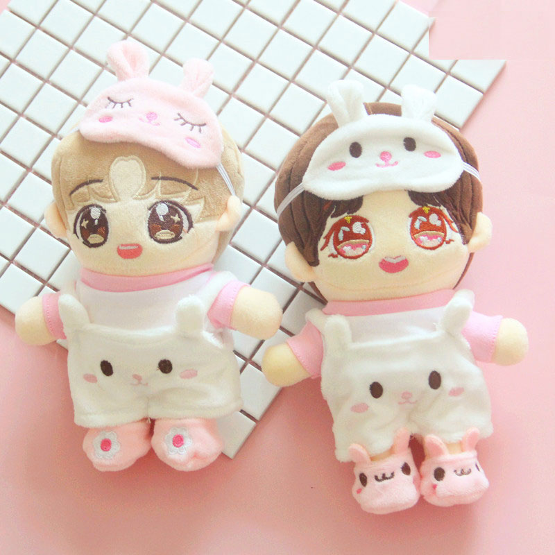 Pink Pig Clothes Pants 20cm Suit 20cm Baby Clothes Exo Love Bean Doll Hat Pants Doll Accessories