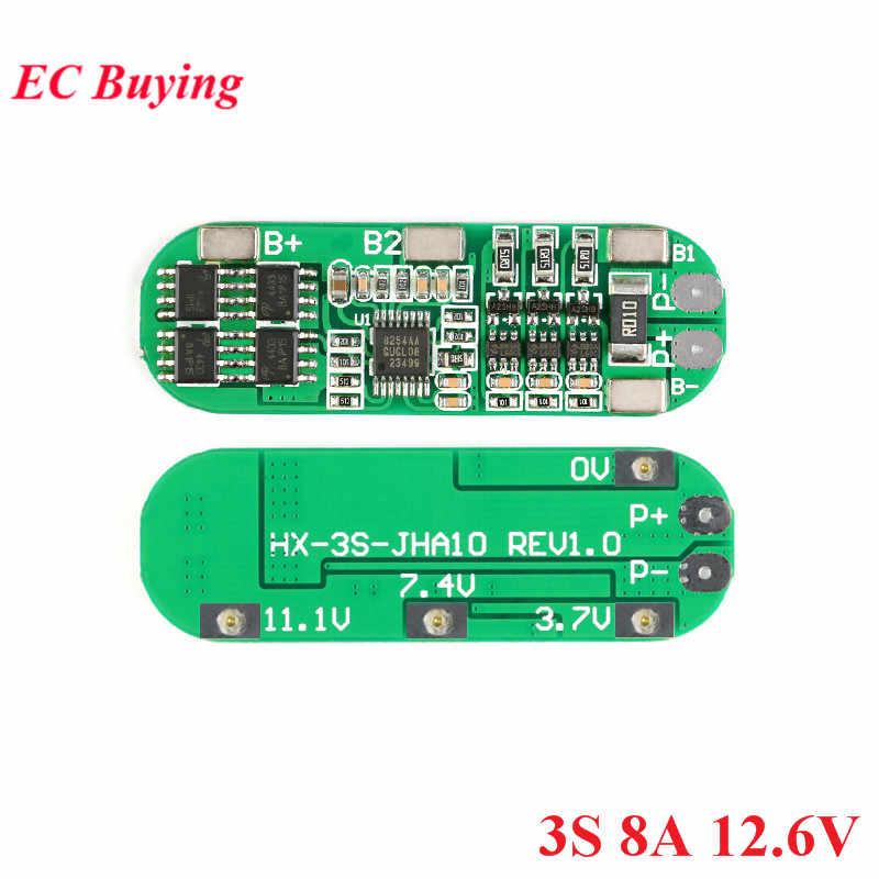 2S 3S 4S 18650 Li-ion Baterai Lithium Perlindungan Board Charger Modul PCB BMS Lipo Sel Papan 8A/10A 7.4V 8.4V 12.6V 16.8V