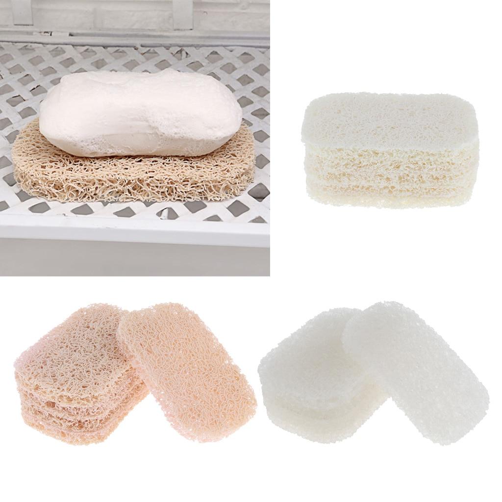 5pcs Kitchen Travel PVC Bathroom Shower Soap Bar Saver Lift Holder  Dish Sponge Rack Tray Organizer For Drain Tray Rack Shelf